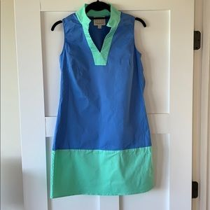 Sail Two Sable Blue and Green Dress
